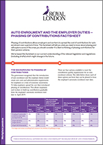 Phasing of contributions factsheet